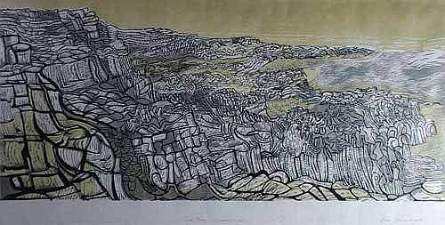 JOHN ADDYMAN (b.1929) LITHOGRAPHIC PRINT Rock