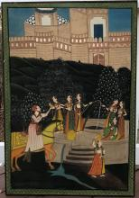 A FINE INDIAN ANTIQUE PAINTING,19C