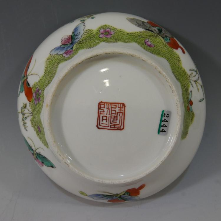 CHINESE ANTIQUE FAMILLE ROSE BOWL - DAOGUANG PERIOD