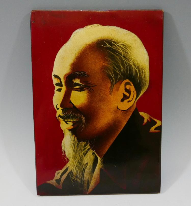 LACQUER PAINTING OF HO CHI MINH