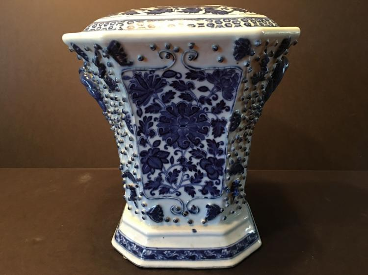 ANTIQUE Chinese Blue and White Bough Pot, mid 19th C.