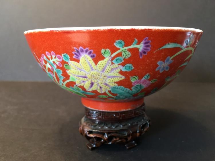 ANTIQUE Important ChineseFamille Rose Flower Bowl, Yongzheng mark