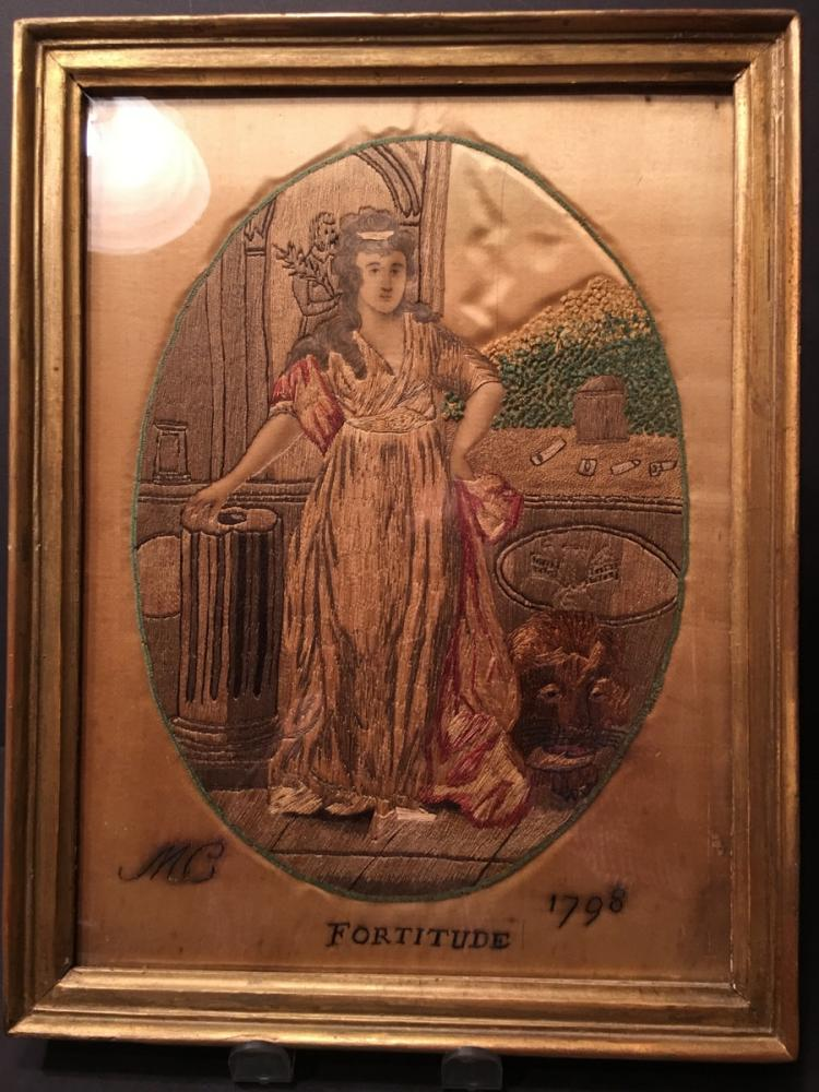 ANTIQUE Embroidery in Frame,