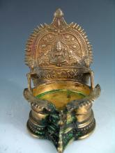 Indian Brass candle holder.