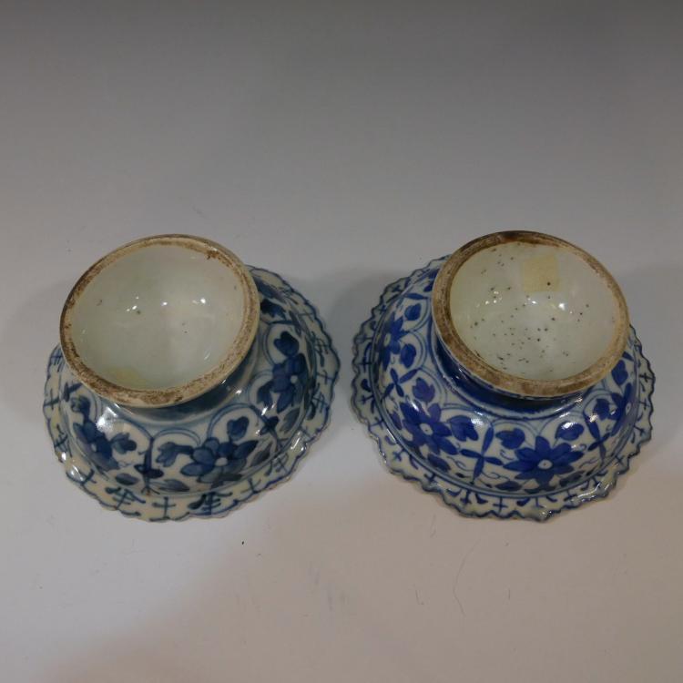 asian furniture alexandria va pair chinese antique blue white porcelain tazza 18th centu