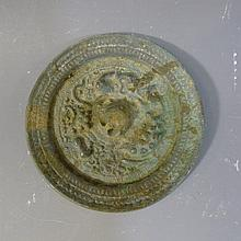 ANTIQUE CHINESE BRONZE MIRROR - TANG DYNASTY