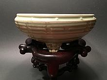 ANTIQUE Chinese LongQuan Footed Censer, Yuan-Ming Period(1279-1644)
