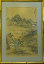 ANTIQUE CHINESE WATERCOLOR PAINTING - 19TH CENTURY
