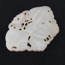 AN ANTIQUE CARVED JADE 19TH CENTURY