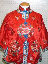 Chinese Embroidery Silk Lady's Coat