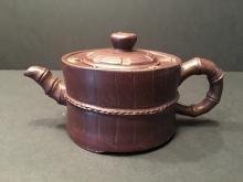 A Fine Chinese Yixing Zisha Teapot, Marked by Gu Jing Zhou