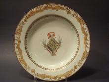Antique Chinese Armorial Plate, excellent decorations of armorial. 9 1/4