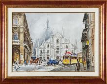 ZECCA ANTONELLO (n. 1944) Milan cathedral.