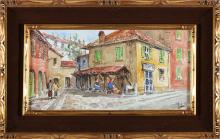 ZECCA ANTONELLO (n. 1944) Pair of paintings titled Leg of Legn and Lavandai Alley.