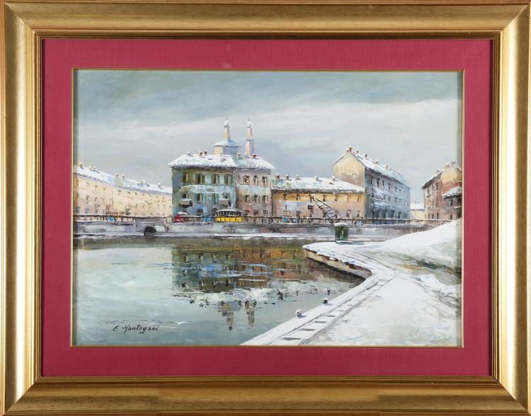 MANTEGANI EUGENIO (1929 - 2005) The Dock.