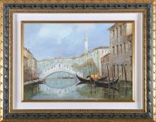 MANTEGANI EUGENIO (1929 - 2005) Rialto bridge.