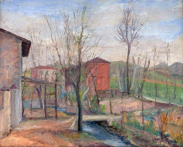 Cascinali a Petosino. GIULIO MASSERONI (1900-1980)