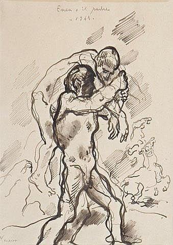 Enea e il padre. 1949 FELICE CARENA (1879-1966)