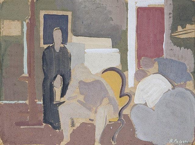 Scena d'interno.  BERNARDINO PALAZZI (1907-1987)
