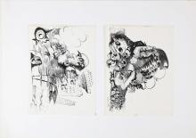 VAGLIERI TINO (1929 - 2000) Lot composed by 2 drawings.