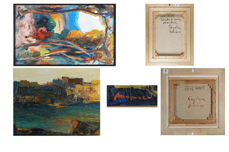 MONACO PASQUALE (n. 1947) Lot consists of two works.