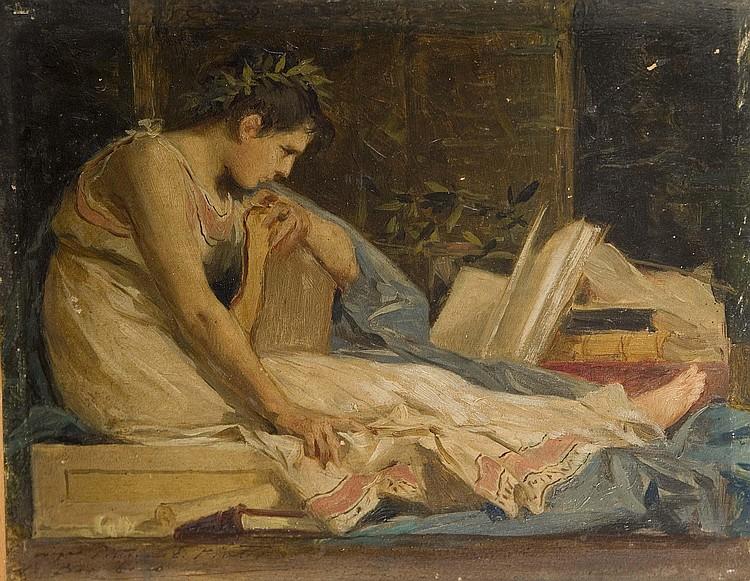 NICCOLO' BARABINO (1832-1891) Allegoria della