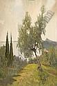 ARTURO VERNI (1891-1960) Veduta del lago di Garda