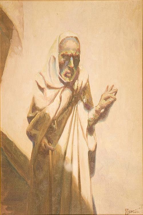 GIUSEPPE FERRARI (1840-1905) ATTRIBUITO A Vecchio