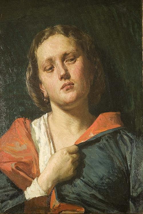 DOMENICO MORELLI (NAPOLI 1826-1901) Ritratto di