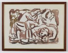 NOTTE EMILIO (1891 - 1982) Untitled (Studio per il quadro della casa del popolo).