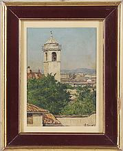 LEIDI PIETRO (1892 - 1930) View of the Tower in Broletto.