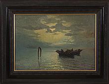 VERNI ARTURO (1891 - 1960) Marina in Venice.