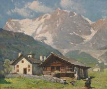 MORETTI FOGGIA MARIO (1882 - 1954) Mountain landscape.