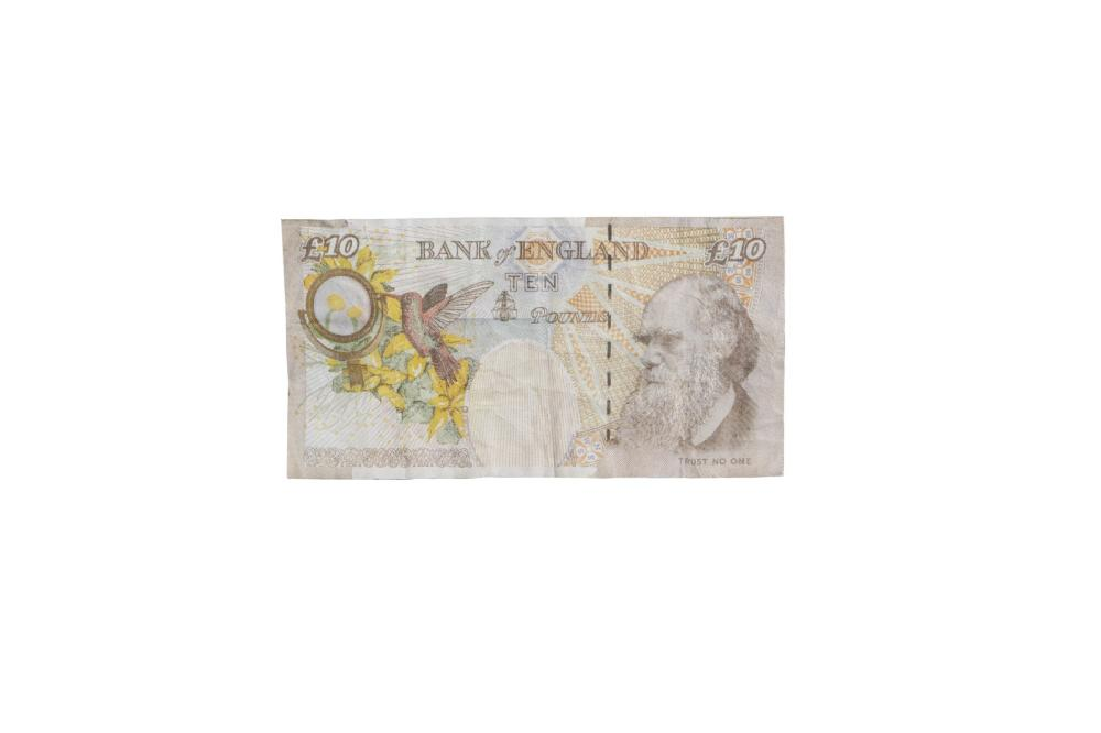 BANKSY (n. 1975) (ATT.TO). Banksy of England 10 pounds.