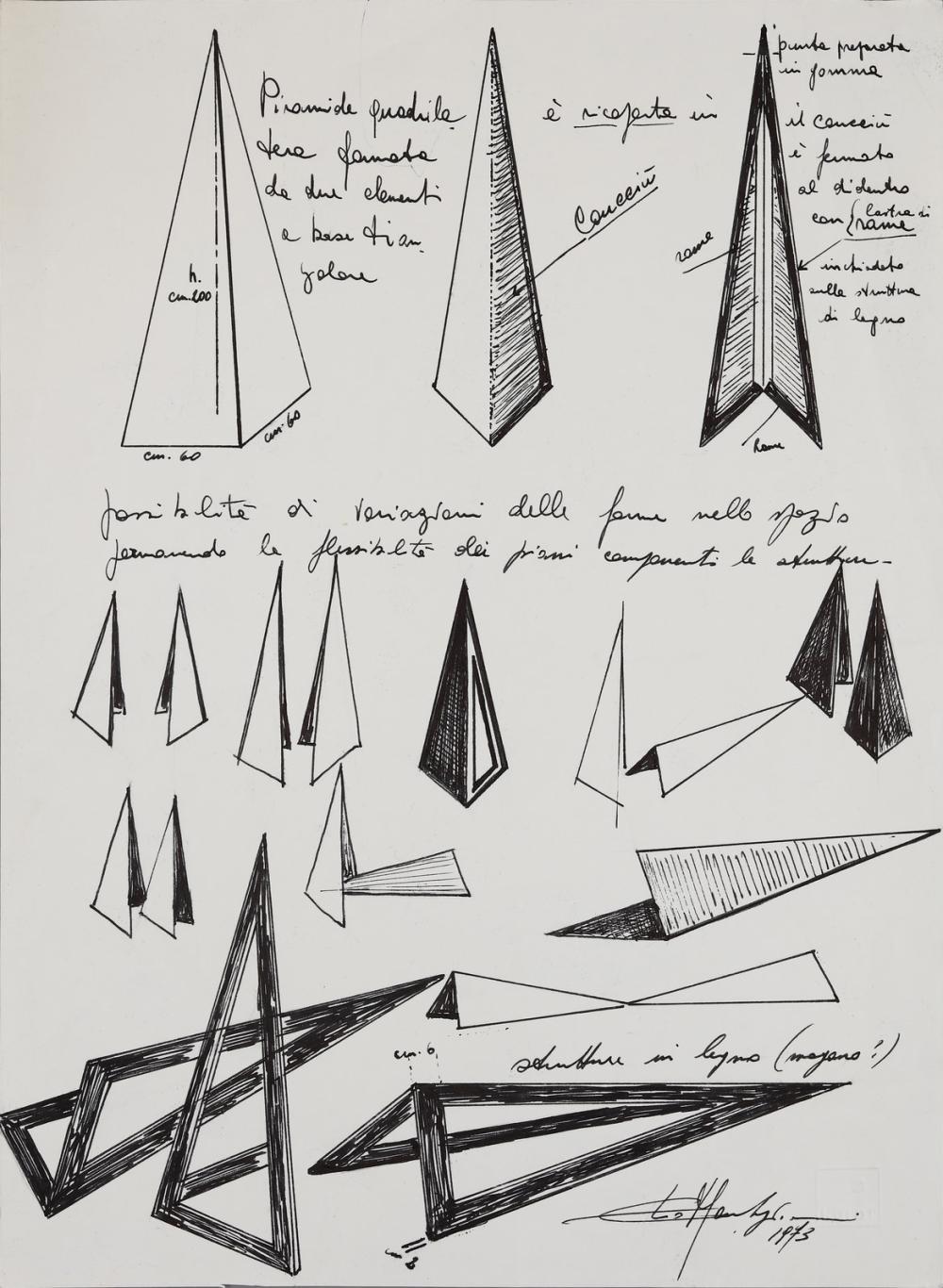 MARCHEGIANI ELIO (n. 1929) Piramide.