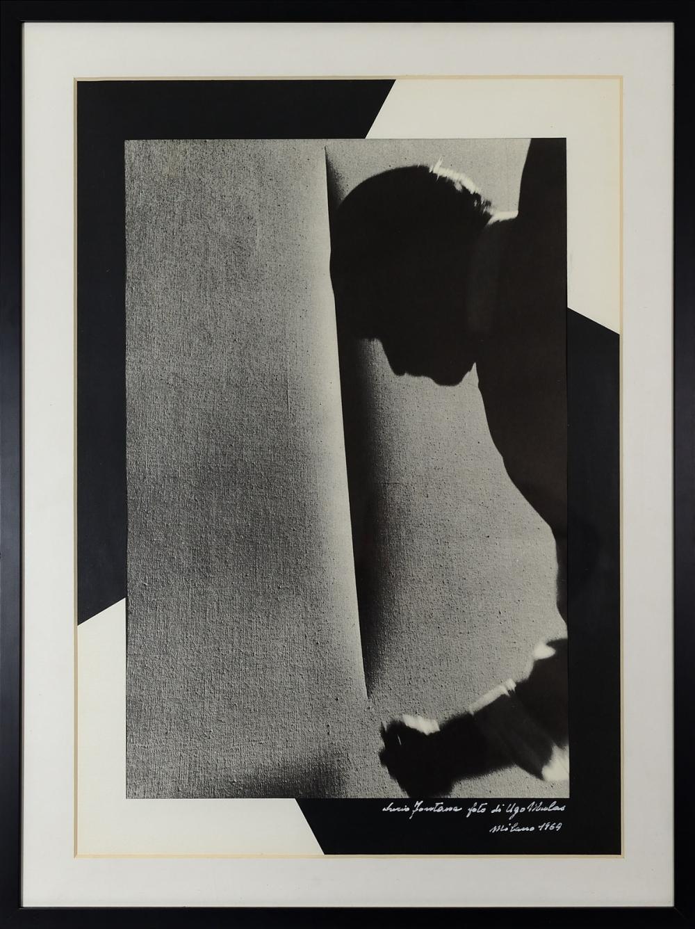 MULAS UGO (1928 - 1973) Lucio Fontana picture, Milan 1969.