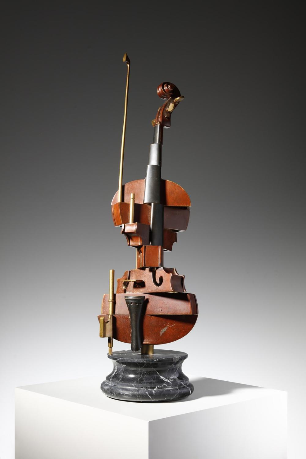 ARMAN FERNANDEZ (1928 - 2005) Violon Spirale.