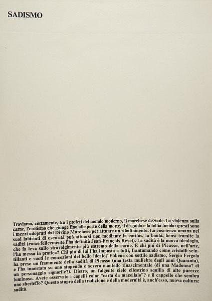 SERGIO FERGOLA (1936-1994) Lotto di 6 opere di