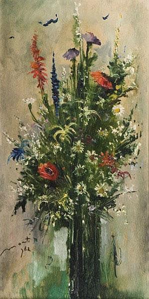 CESARINO MONTI (1916-1979) Vaso di fiori Firmato