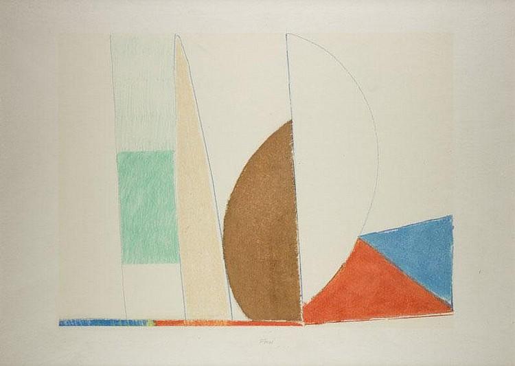 WALTER FUSI (1924) Astratto geometrico Autentica