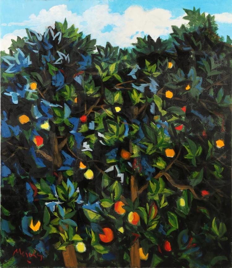 MESCHIS RENZO (n. 1945) Orangery.