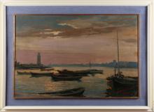 VERNI ARTURO (1891 - 1960) Port of Desenzano.