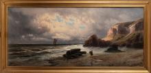 AMUS EUGENIO (1834 - 1899) Breton sea storm.