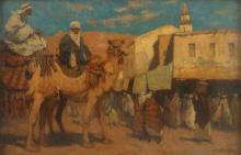 MORETTI FOGGIA MARIO (1882 - 1954) Market square in Damascus.