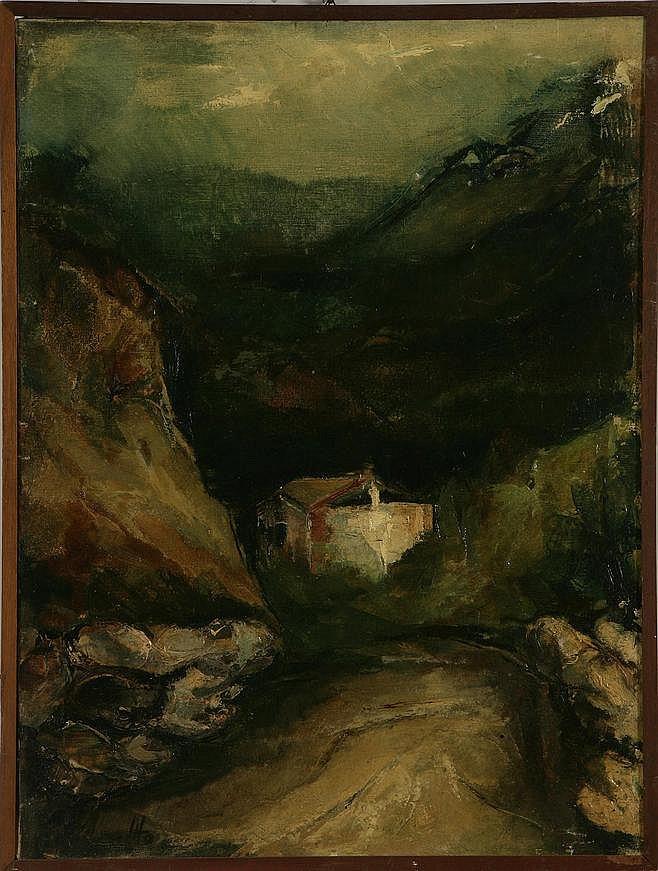 MONTANARI VITO (n. 1934) Paesaggio a Bormio