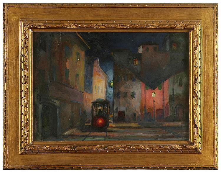 COSTETTI GIOVANNI (1878 - 1949) Tram di notte