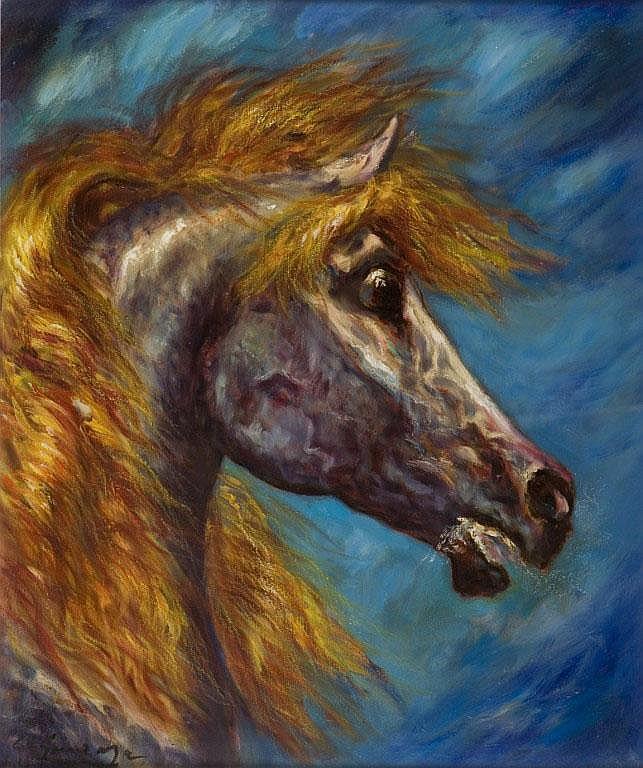 Testa di Corsiero, l'arabo canta al suo cavallo