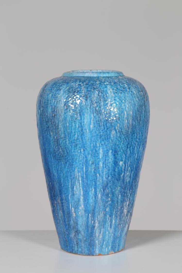 Grande vaso in ceramica smaltata, anni 50