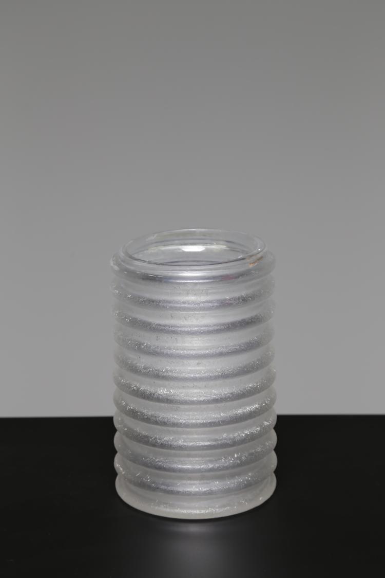 Vaso in vetro massello acidato, anni 60