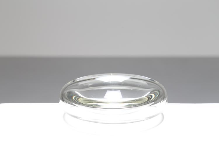 Posacenere in cristallo trasparente, Murano anni 80